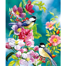 5D Diamond Embroidery diy diamond Painting Cross Stitch landscape Diamond Mosaic pattern home decor Flowers and birds gift(China)