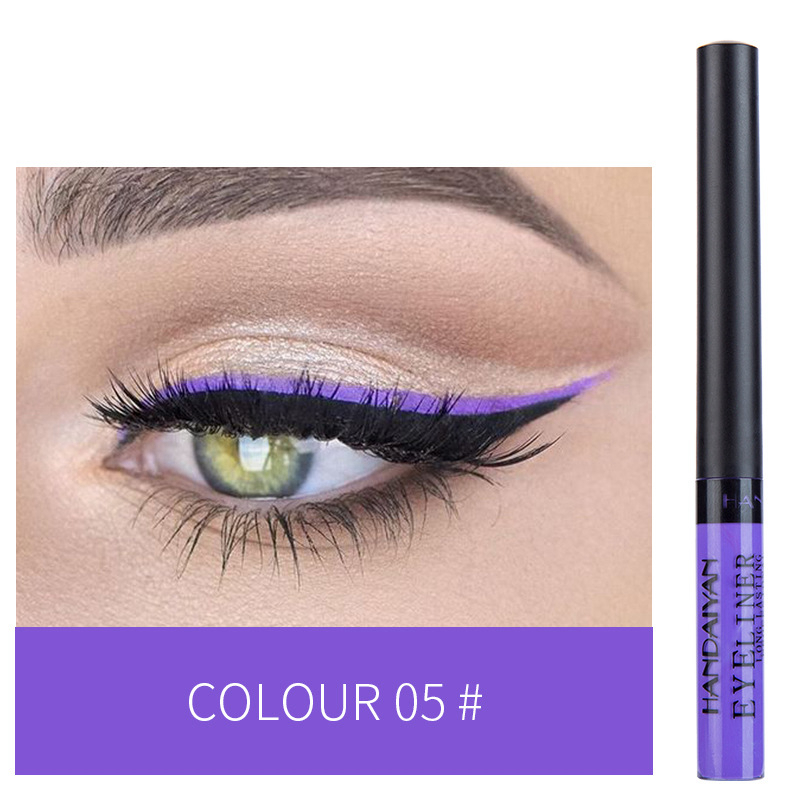 12 Color Eyeliner Liquid Waterproof Easy To Wear Make Up Matte Eye Liner Blue Red Green White Gold Brown Eyliner 7
