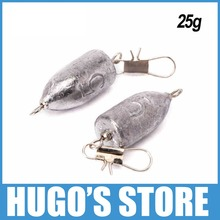 5 Pieces 25g 0.9 OZ Lead Fish Sinker Bank Fishing Weight