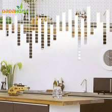 100 Pcs Acrylic Mirrored Decorative Sticker Wall Art DIY Decoration Mirror Wall Stickers For Kids Rooms Home Decor(China)