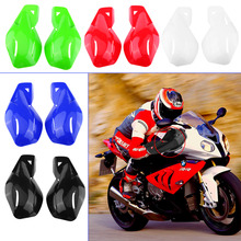 "1 Pair Universal Motorcycle ATV Dirt Bike 22mm 7/8"" Handlebar Hands Guard Protector Red White Black Blue Green"