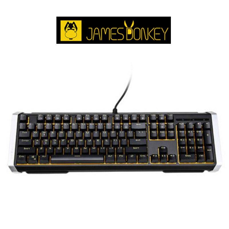 New James Donkey 612 Alloy Mechanical USB Wired Keyboards Game Back Light 104 Key Laptop Metal Frame Multimedia Key Combination<br><br>Aliexpress