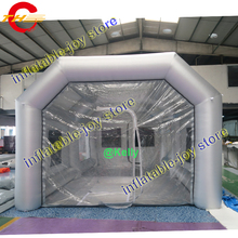 STOCK!! cheap professional inflatable spray booth on sale, 8x4x3mH commercial easy set up inflatable car paint spray tent booths(China)
