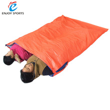 US Stock Lixada Portable Double Sleeping Bag Outdoor Camping Travel Hiking Sleeping Bag 200 * 145cm For Sales Promotion(China)
