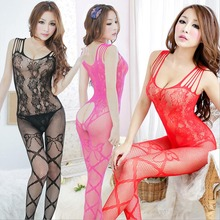 Buy Women Open Crotch Bodystocking Sexy Lingerie Bodysuit Costume Crotchless Mesh Body Stocking Women Sexy Costumes Erotic Suit