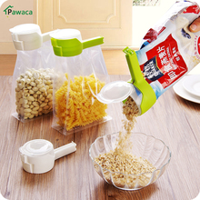 1pcs Househould Food Snack Storage Seal Sealing Pour Bag Clips Sealer Clamp Food Bag Clip Kitchen Tool Home Food Close Clip Seal(China)