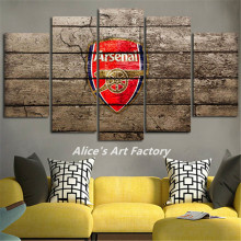 5Piece Wall Art Modular Picture Arsenal Football Club Nordic Poster Print Art Painting Posters Printed Wall Decor Pictures