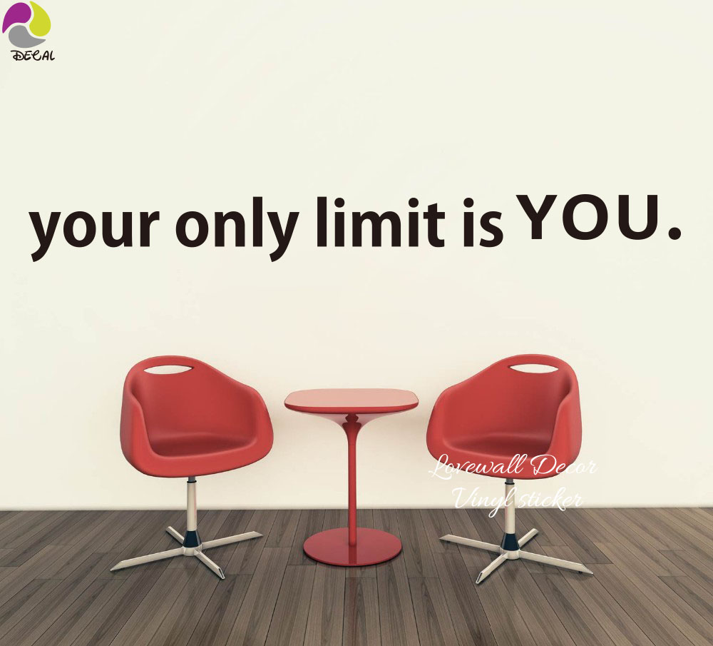 Vinyl Sticker//Decal for Car Window Fitness Motivation Your Only Limit Is You