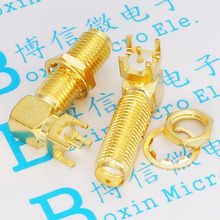 SMA-KWE long 23MM Curved bridge outside screw hole rf coaxial connector antenna connector 3pcs/lot