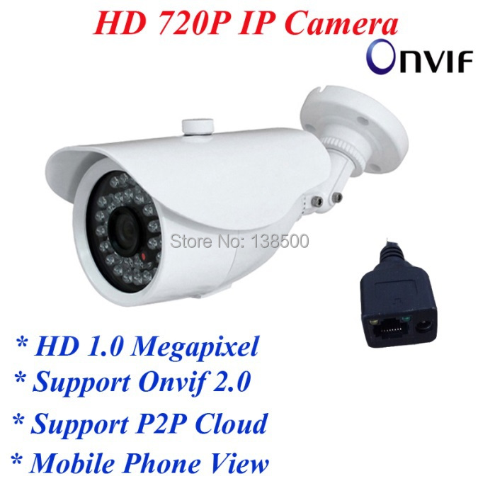 Free Shipping Wholesale 720P HD IR Day&amp;Night Outdoor Waterproof Onvif Network IP CCTV Security Camera 2pcs Packed<br><br>Aliexpress