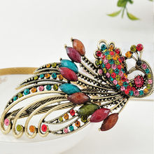 Fashion Women Retro Crystal Butterfly Flower Hairpins Hair Stick Hairclip for girl bijoux de tete