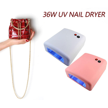 Nail Dryer High Quality 36W 220V UV Lamp 3 x 12W Fast Curing Light Nail Art Tools Drying Lamp Beige Color LED For Nails Manicure(China)