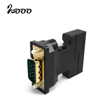 VGA to HDMI with 3.5mm plug Audio Adapter Converter Male to Female VGA 2 HDMI Video adaptor for HDTV CRT Monitor TV XBOX 360 PS3