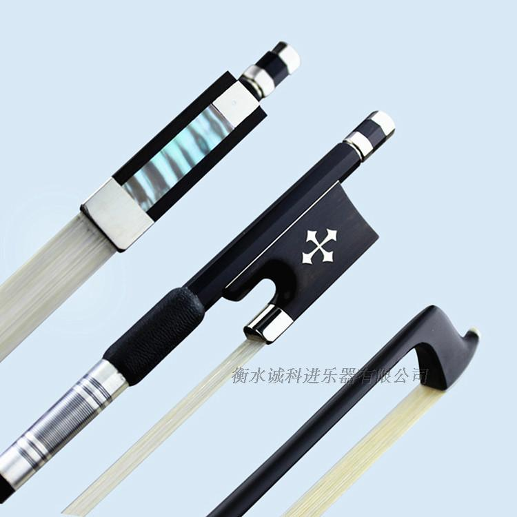 High Quality New Carbon Fiber 1/4 1/2 3/4 4/4 Full Size White Horsetail/Bow Hair Violin Bow Round Stick Ebony Frog Free Shipping<br>
