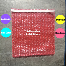 18*25cm+3 50Pcs Red & Anti static Bubble PE Self Sealing Bubble Envelopes Wrap & Bag Inflatable Bag Bubble Film Packaging Foam(China)
