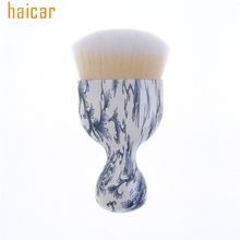 HAICAR Love Beauty Female  Flowers Printed Powder Cosmetic Makeup Brush Short Drop Shipping 170117