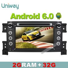 uniway 2G+32G 2 din android 6.0 car dvd for sukuzi grand vitara multimedia car radio stereo gps with steering wheel