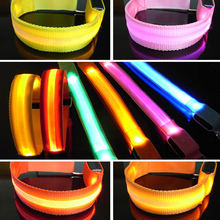 1 pcs Safety Supplies Necessary Luminous Armband Climbers Cheer Dance Band Reflective light Flash arm strap wrist bracelet S2