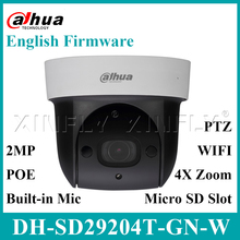 Dahua Original English version DH-SD29204T-GN-W 2MP  IR PTZ Wifi Network Camera WDR IVS PoE PTZ Dome 4x optical zoom Camera