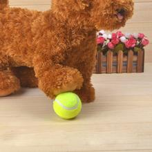 Dog Pet Toy Ball Sports Practice Tennis Ball Beach Tournament Outdoor Fun Cricket Pet Toy Tennis Ball Dog Chew Toy 2JU30(China)