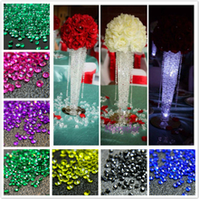 4.5mm 5000pcs Diamond Confetti Wedding Centerpiece Decoration Favors Crystal Party Accessories Table Crafts Gifts Supplies 7D