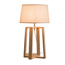 Novel wooden Table Lamp 420mm Modern Industrial lamp wood&cloth table lamp for reading Style desk lighting E27 Bedside lamp