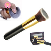 1 PC New Fashion Women Flat Kabuki Brushes Cosmetic Face Nose Powder Foundation Eye Shadow Makeup Tool