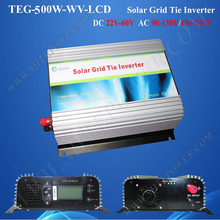 DC 24v 36v 48v to AC 220v 230v 240v solar inverter grid tie 500w with meter lcd