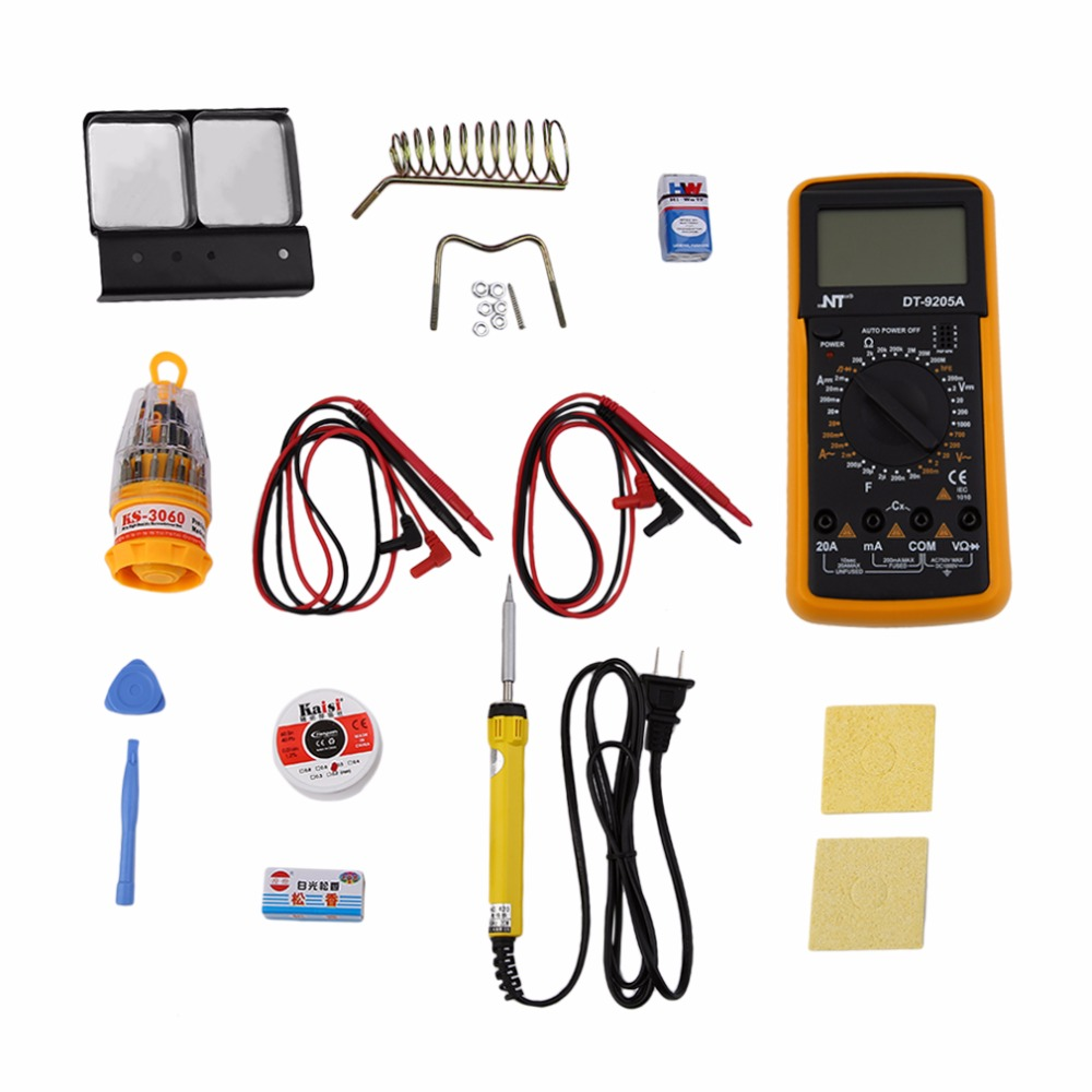 11Pcs/set Handheld Universal Meter General Manual Range Digital Multimeters Volt Meter with HD LCD Screen Hot Sale<br>