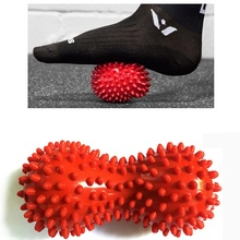 1 pcs Spiky Massage Ball PVC Foot Trigger Point Stress Relief Massager Accessories Peanut Design Massage Ball
