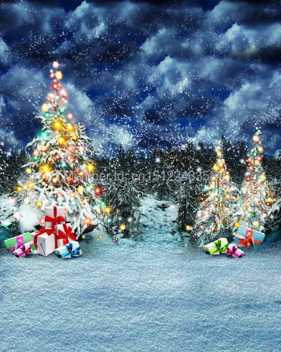 8x10FT photography backdrops Christmas Tree Gifts Event snow Photo Studio Background Customize Background L-827<br>