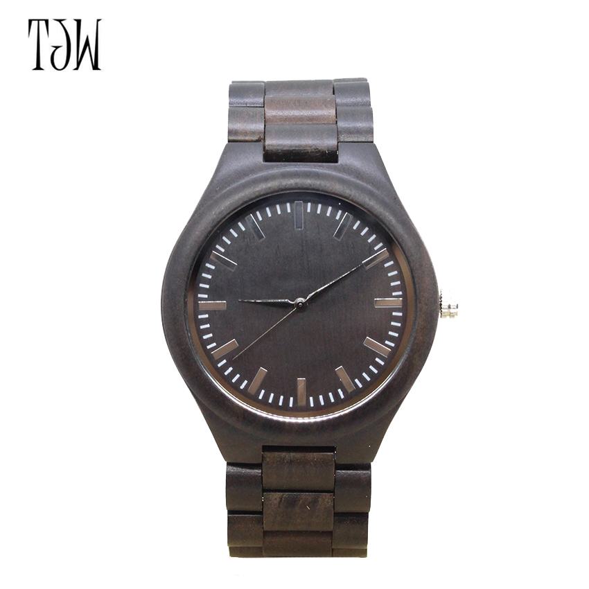 TJW Hot Sell Fashion Men Bamboo Wood Watches Mens Quartz Hour Clock Vintage Retro Wooden Wrist Watch Male Relogio<br>