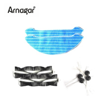 Arnagar Robot Vacuum Cleaner Mop Cloth/Rolling brush/Side brush for ArnagarQ1 Replacement Cleaning Robot Vacuum Cleaner Spare