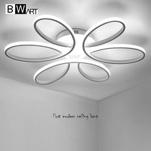 BWART New modern led chandelier for living room bedroom dining room aluminum body Indoor home chandelier lamp lighting fixture(China)