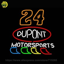 24 Dupont Motor Sports Neon Sign Neon Bulbs Recreation Garage Gifts Glass Handcraft Guarante Store Display 24X18(China)