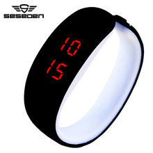 Fashion Men Women Electronic LED Touch Candy Jelly Watch Silicone Sports Digital Watch 2016 New Relogio Masculino(China)
