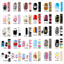 Wholesale New Excellent Nail Polish Patch Super Thin Full Nail Foil Wrap Pregnant Women Nail Sticker 500packs/lot Free Shipping(China)