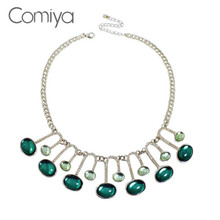 Comiya Assassins Creed Orologio Uomo Fashion Boho Zinc Alloy Green Imitation Stone Choker Women Necklaces Jewellery Torque