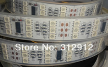 3ROWS 5m DC12V 144leds/m and 12pcs TM1812 ic/meter(48pixels) led digital strip;IP68;waterproof in silicon tube