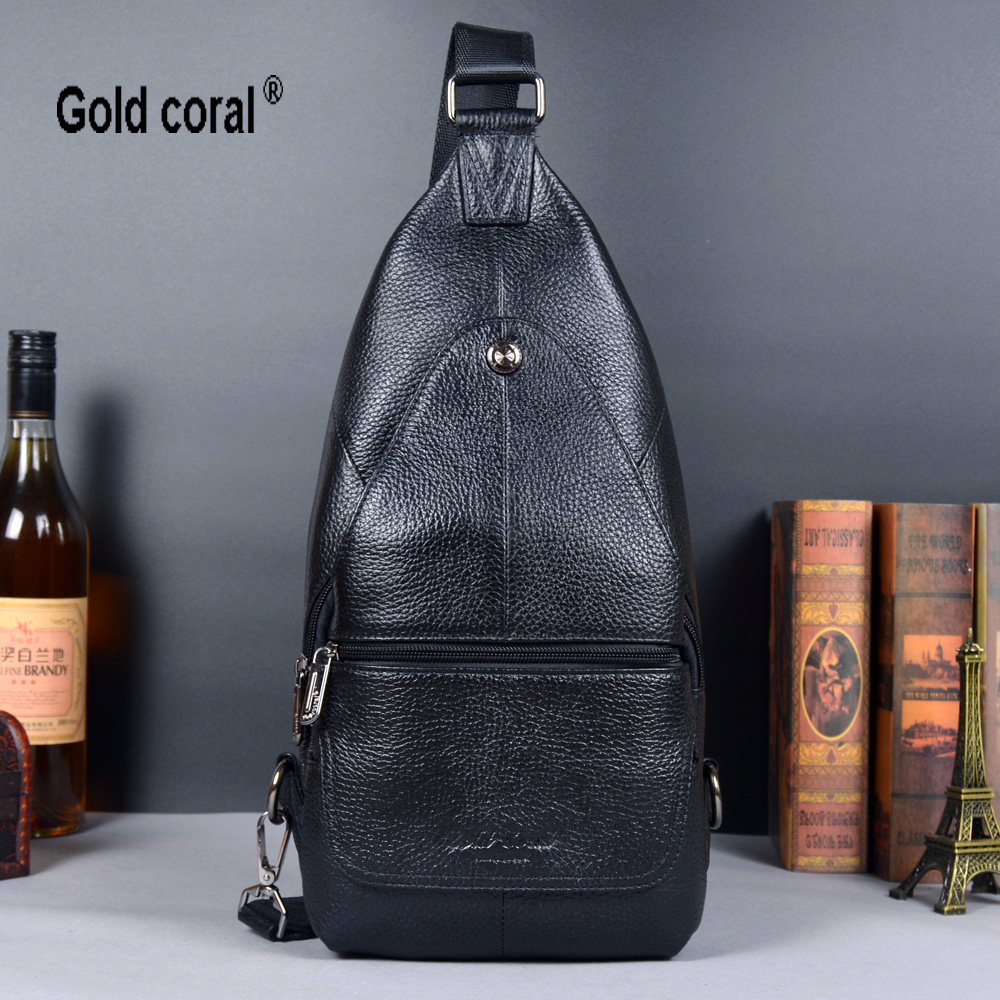 2015 hot sale fashion men genuine leather  shoulder bags male messenger bag chest package for men free shipping<br>