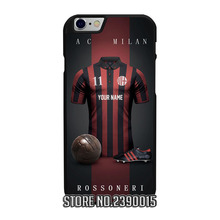 Custom AC MILAN Jersey Cover Case for IPhone 4 4s 5 5s 5c se 6 6s 7 plus Sony Z Z1 Z2 Z3 Z4 Z5 Compact C3 C4 C5 M2 M4 T2 T3 X XA