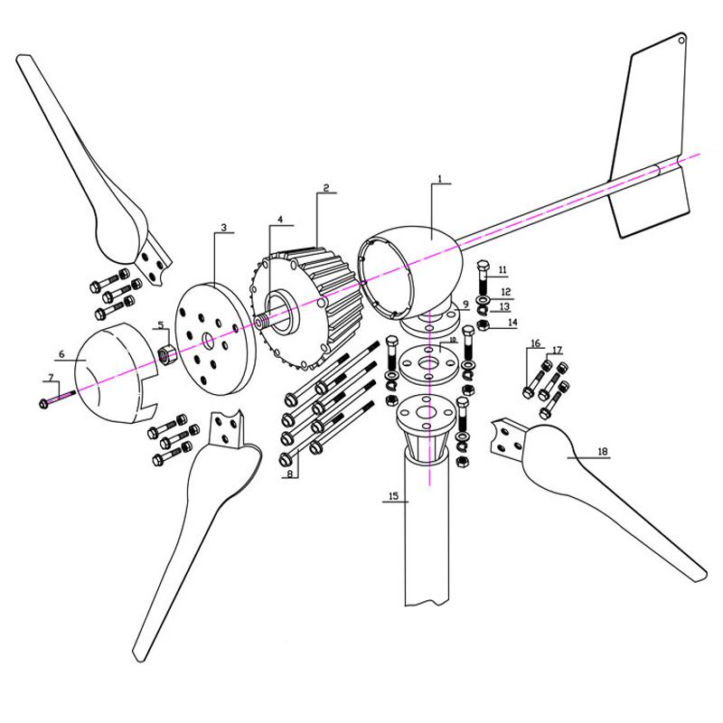 1000W-Wind-Turbine-Generator-24V-48V-2-5m-s-Low-Wind-Speed-Start-3-blade-1150mm