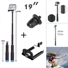 SP POV Pole Selfie stick Go Pro Camera Monopod Mount Adapter + clip holder for iphone sumsung for sony AS100V AEE sj4000 camera