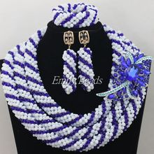 Gorgeous Native American African Wedding Beads Jewelry Set Indian Bridal Costume Jewelry Set Bride Jewelry Free Shipping AIJ166