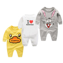 Buy 2017 kids jumpsuit product spring autumn baby clothing cartoon baby girl rompers 100% cotton BABY boy clothes newborn for $7.35 in AliExpress store
