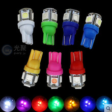 10piece T10 SMD 5050 LED 5 W5W 194 168 921 2825 Instrument Led Light Wedge Auto Car Bulb Lamp ED Car Tail Side Bulb Light Bulb(China)