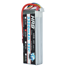 HRB RC Lipo Battery 4S 14.8V 3300mah 35C-70C For Helicopters RC Model Airplane Quadcopter(China)
