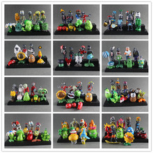 Plants vs Zombies Toy Plants Zombies PVC Action Figures Toy Doll Set for Collection Party Decoration, Kids Gifts(China)