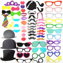 Photo Booth Props 60Pcs/Set 2017 New Party Event Supplies Photobooth Mustache Lips Party Mask Wedding Party Decoration Birthday