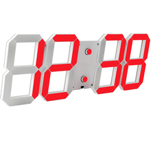 LED Alarm Clock Square Digital Wall Clock LDE Wall Clock Modern Design Luminova Electronic Watch Emperature Date Countdown(China)